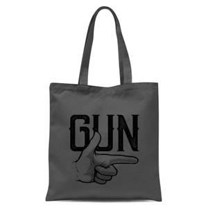 Gun Tote Bag - Grey