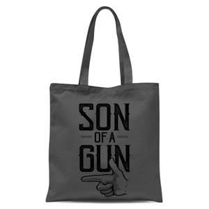 Son Of A Gun Tote Bag - Grey