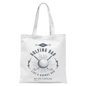 Golfing Dad Tote Bag - White