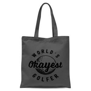 World's Okayest Golfer Tote Bag - Grey