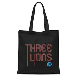 Three Lions Tote Bag - Black