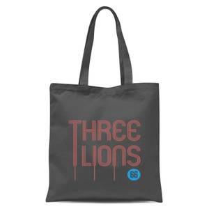 Three Lions Tote Bag - Grey
