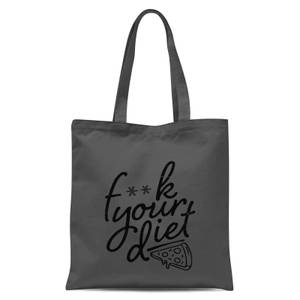 F**k Your Diet Tote Bag - Grey