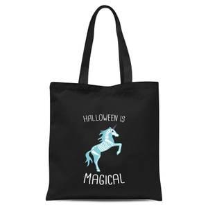 Unicorn Skeleton Tote Bag - Black