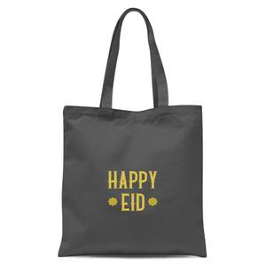 International Women's Day Happy Eid Gold Tote Bag - Grey