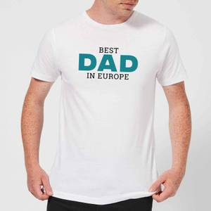 Best Dad In Europe Men's T-Shirt - White