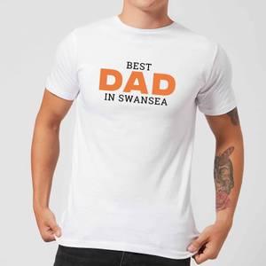 Best Dad In Swansea Men's T-Shirt - White