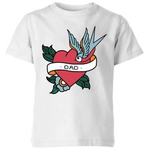Dad Heart Kids' T-Shirt - White
