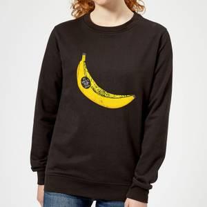 My Dad Is A Top Banana Women's Sweatshirt - Black