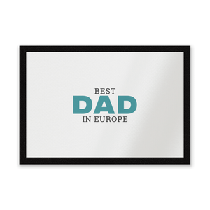Best Dad In Europe Entrance Mat