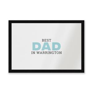 Best Dad In Warrington Entrance Mat