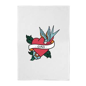 Dad Heart Cotton Tea Towel