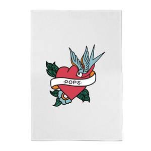 Pops Heart Cotton Tea Towel