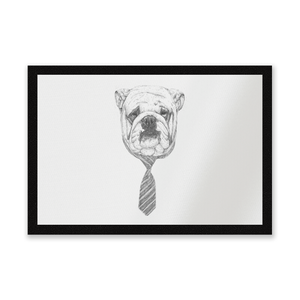 Suited And Booted Bulldog Entrance Mat