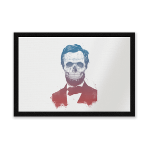Suited And Booted Skull Entrance Mat