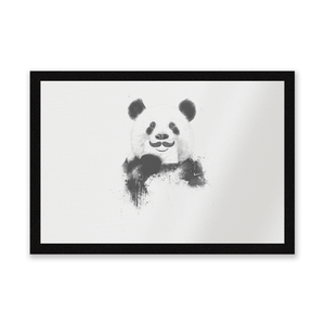 Moustache And Panda Entrance Mat