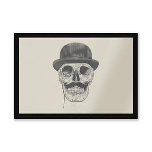 Monocle Skull Entrance Mat