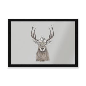 Winter Deer Entrance Mat