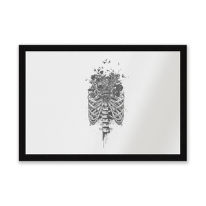 Ribcage And Flowers Entrance Mat