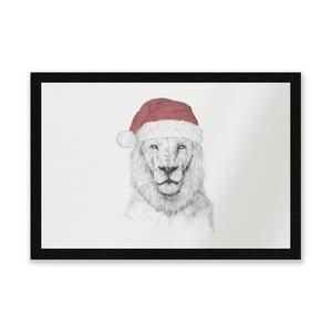 Santa Lion Entrance Mat
