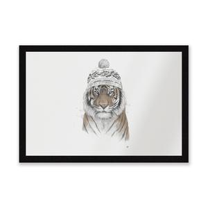 Winter Tiger Entrance Mat