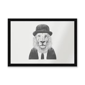 Monocle Lion Entrance Mat