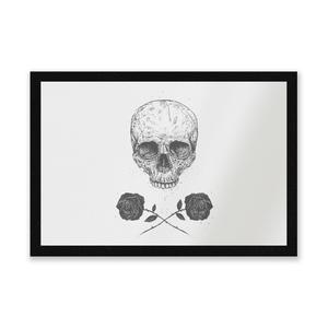 Skull And Roses Entrance Mat