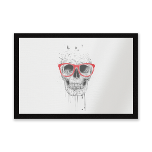 Skull And Glasses Entrance Mat