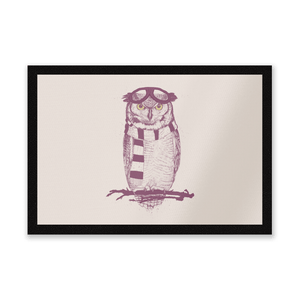 Winter Owl Entrance Mat