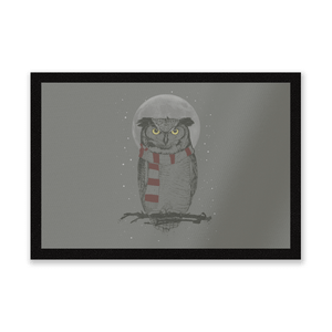 Owl And Moon Entrance Mat