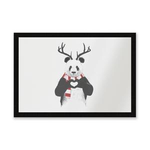 Winter Panda Entrance Mat