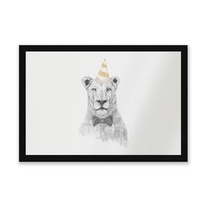 Party Lion Entrance Mat