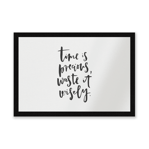 Time Is Precious Entrance Mat