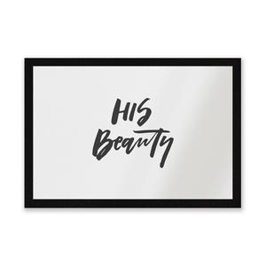 His Beauty Entrance Mat