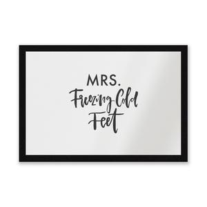 Mrs. Freezing Cold Feet Entrance Mat