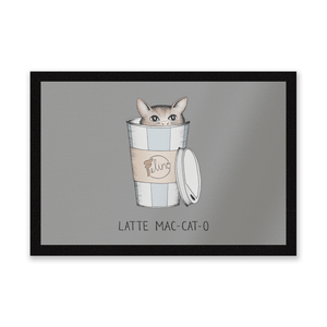 Latte Mac-Cat-O Entrance Mat
