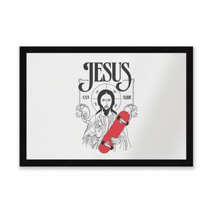 Jesus Can Slide Entrance Mat