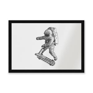 Kickflip In Space Entrance Mat