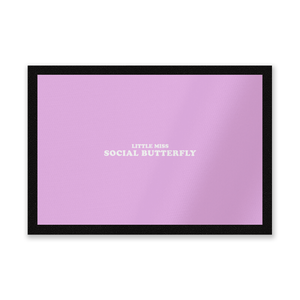 Little Miss Social Butterfly Entrance Mat