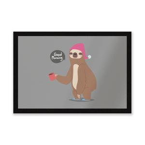 Sloth Good Morning Entrance Mat