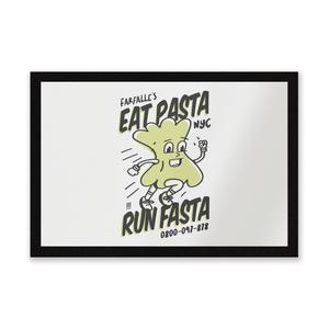 EAT PASTA RUN FASTA Entrance Mat