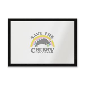 Save The Chubby Unicorns Entrance Mat