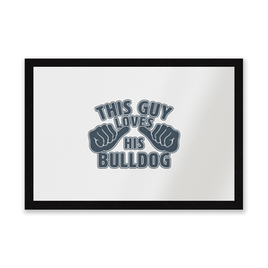 This Guy Loves His Bulldog Entrance Mat