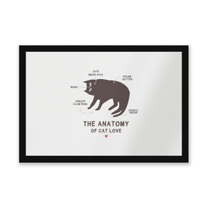 The Anatomy Of Cat Love Entrance Mat