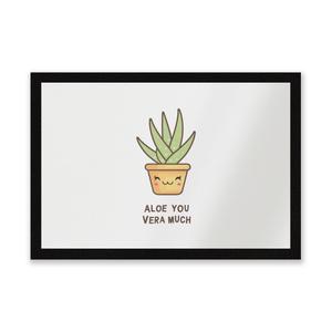 Aloe You Vera Much Entrance Mat