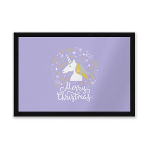 Unicorn Christmas Head Entrance Mat