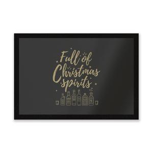 Full Of Christmas Spirits Entrance Mat