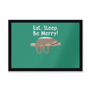 Eat, Sleep, Be Merry Entrance Mat