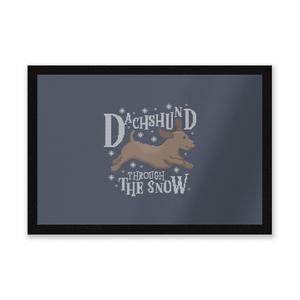 Dachshund Through The Snow Entrance Mat