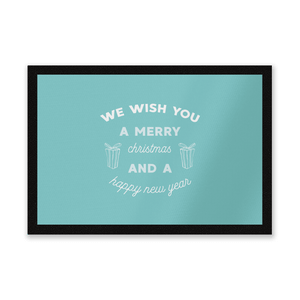 We Wish You A Merry Christmas And A Happy New Year Entrance Mat